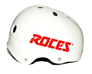 Roces White Aggressive Inline Roller Derby Skate Helmet. PG751-2-WHI by Roces