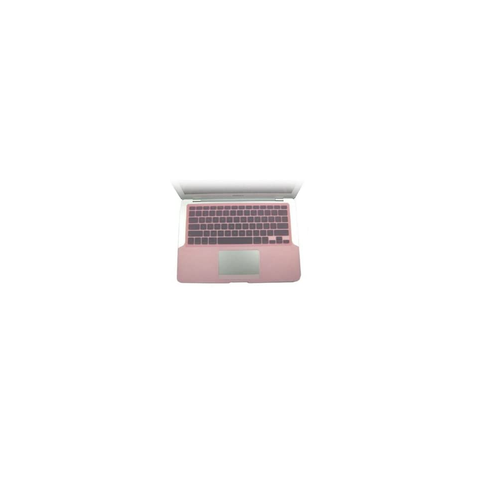 Pink Silicone KeyBoard Cover Skin For New Apple MacBook 13.3 Aluminum Unibody and Black Keyboard