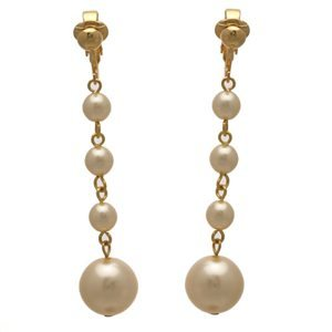 Martinique Gold Cream Pearl Clip On Earrings