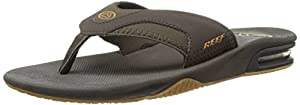 Reef Men's Fanning Sandal, Brown/Gum, 11 M US