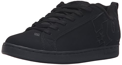DC Women's Court Graffik SE Skateboarding Shoe, Black/Black/Black, 10.5 M US