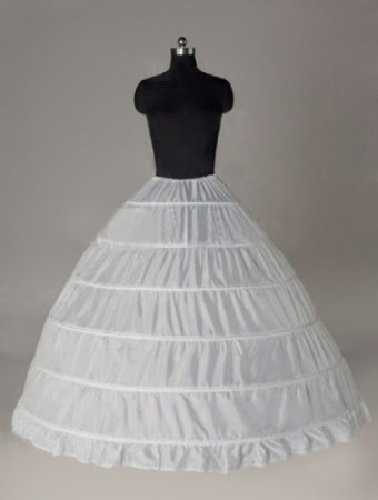 Sunvary Nylon Ball Gown Full Gown 1 Tier Long Slip Wedding Petticoats