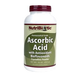 Ascorbic Acid Powder with Bioflavonoids - 16 oz - Powder