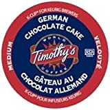 Timothy's German Chocolate Cake Flavored Coffee for Keurig Brewers 24 K-Cups
