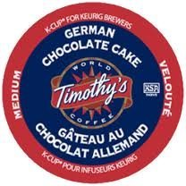 Timothy's German Chocolate Cake Flavored Coffee * 1 Box of 24 K-Cups * (German Chocolate Cake Kcup compare prices)