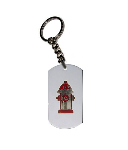 Emblem Key Chain w/ Metal Ring - Fire Department & EMT Design - Fire Hydrant (Red) (Keychain Fire Emblem compare prices)
