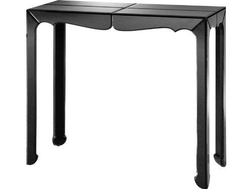 Image of Vivie Console Table with Black Mirror Top (B003R5N62Y)