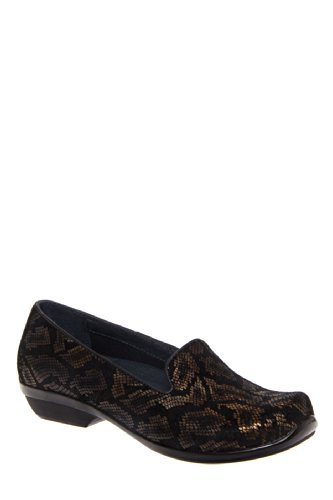 Dansko Olivia Snake Leather Low Heel Shoe