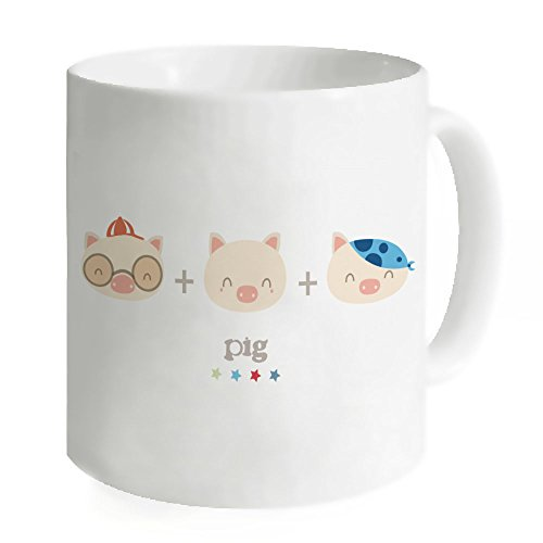 Kdnsgfds Little Pigs Mug Coffee Mug Tea Cup - Personalized Gift For Birthday,Christmas And New Year-3.7