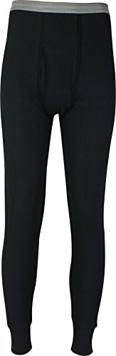 Indera Men's Cotton Waffle Knit Heavyweight Pant