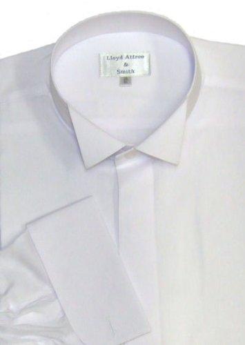 Wing Collar Formal Dress Shirt White