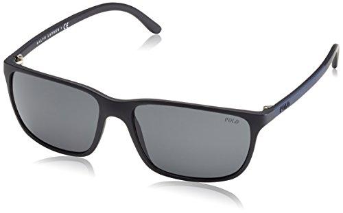 Polo Ralph Lauren Sunglasses PH4092 550587 Matte Black Dark Grey 58 16 145