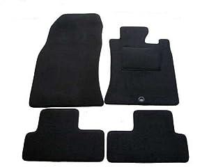 QTMDirect2U 1192 Velour Carpet Car Mats Black