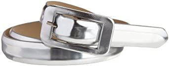 Robert Rodriguez Women's Skinny Belt, Silver, X-Small