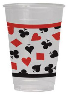 Card Night 16oz Plastic Cups (Pack of 8)