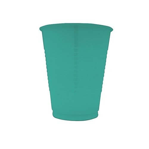 Touch Of Color Plastic Cups, 16 Oz, Tropical Teal, Sold By The Case: 20 per Pkg, 12 per Case, Total Quantity: 240