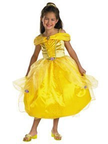 Disney Beauty and the Beast Belle Deluxe Child Halloween Costume Size 7-8