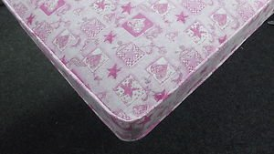 3FT SINGLE BUDGET MATTRESS PINK LOVE HEART KIDS GIRLS PINK MATTRESS BUNK BED