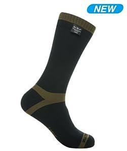 Dexshell Mid Calf AquaThermal 100% Waterproof and Breathable Trekking Socks, Small