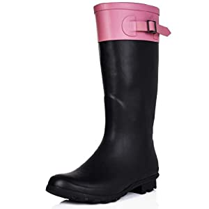 Flat Festival Wellies Wellington Rain Boots Pink