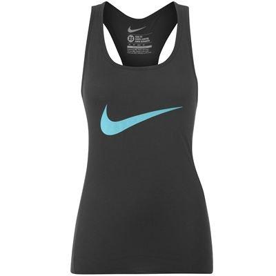 Nike Swoosh Tank Top Ladies Black/Turq 14