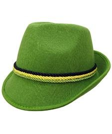 Green Alpine Bavarian German Felt Hat Oktoberfest Halloween Costume