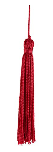 Find Discount Set of 10 Red Chainette Tassel, 4 Inch Long with 1 Inch Loop, Basic Trim Collection St...