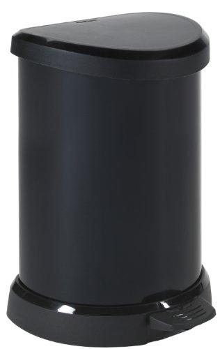 Curver 176454 Aspect Métal Poubelle à Pédale 20 L Métal Noir