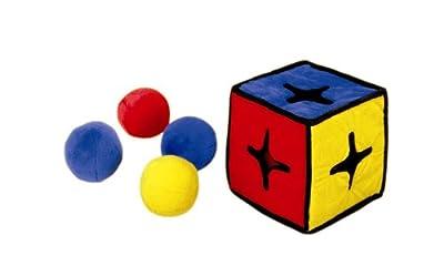 Outward Hound Kyjen I-Qube Puzzle Plush Interactive Dog Toy