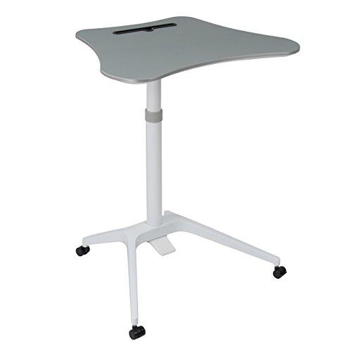 Calico Designs 51234 Cascade Height Adjustable Cart, White/Silver Adjustable Workstation