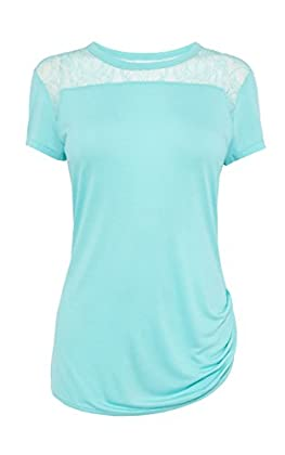Lace shoulder tshirt