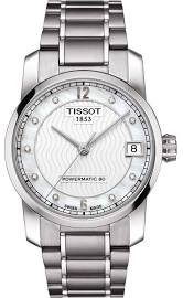 4b4e66e5f Tissot T-Classic Automatic Mother of Pearl Dial Titanium Ladies Watch  T0872074411600
