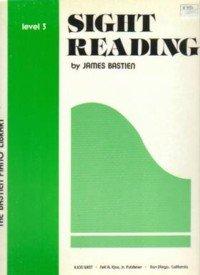 Sight Reading Level 3 For Piano (Bastien Piano Library,...