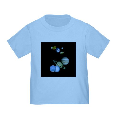 Cafepress Our Solar System Planets Toddler T-Shirt - 4T Baby Blue