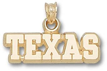 Texas Longhorns Texas 1 4 Pendant - 14KT Gold Jewelry by Logo Art