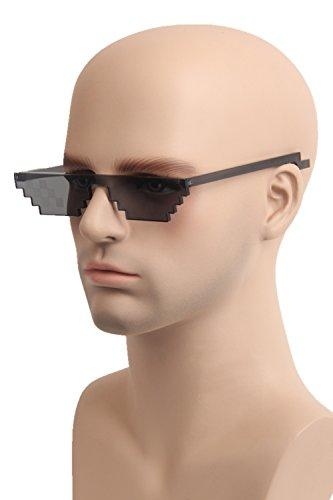 [Topcosplay Eyewear Pixel Thug Life Glasses PC Sunglasses for Women or Men] (Thug Life Halloween Costumes)