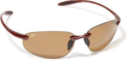 Serengeti Eyewear CELCIO 7519 Polarmax Dark Tortoise Polarized Rimless Sunglasses