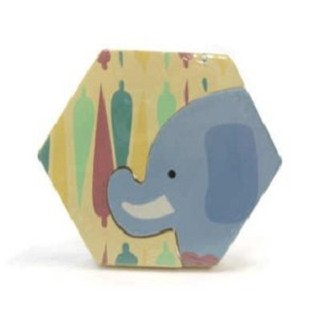 "My First Wooden Puzzle Elephant 4"" by Russ Berrie"