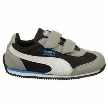 Puma Whirlwind V Sneaker (Toddler/Little Kid),Limestone Gray/Black/White/French Blue,5 M Us Toddler front-38355