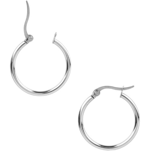 Inox Jewelry 316L Stainless Steel 30mm Hoop Earrings