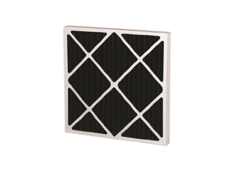 """Filtration Group 21090 Series 550 Odor Removal Pleated Air Filter, Polyester / Nonwoven Impregnated with Activated Carbon, Black, 14"""" Height x 24"""" Width x 1"""" Depth (Case of 12)"""