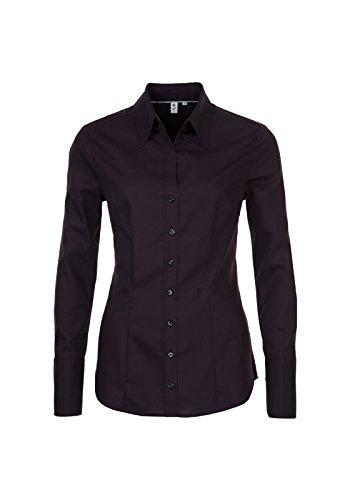 Seta adesivi rosa nera-camicia da donna City 1/1-lungo (60.080613) Schwarz(39) 50