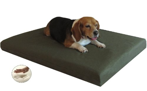 Quantity = 2 Small Medium Memory Foam Pad Pet Bed + External Canvas Cover + Waterproof Case For Dog And Cat front-53244