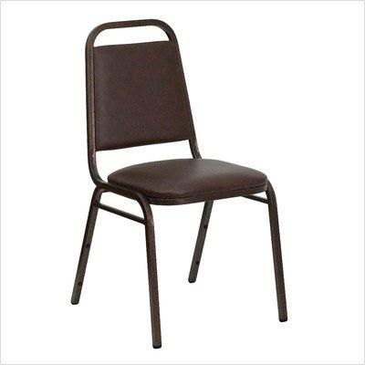 "1.5"" Hercules Series Trapezoidal Back Stacking Banquet Chair Frame / Upholstery: Black Frame / Black Vinyl"