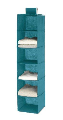4400057100 Wäschesortierer Breeze - 6 Fächer, 100% Polypropylen, 35 x 122 x 35 cm, Petrol