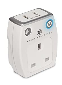 Masterplug SRGAUSBPW Surge Protected Mains USB Charger