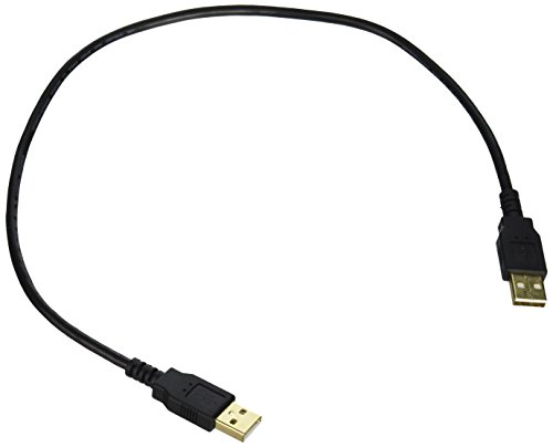Monoprice 1.5-Feet USB 2.0 A Male to A Male 28/24AWG Cable (Gold Plated) (105441)