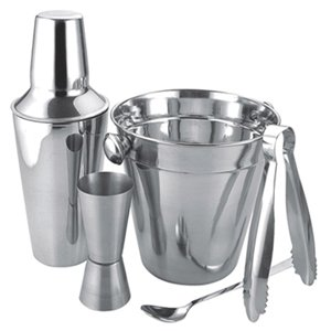 Apollo Stainless Steel Cocktail Gift Set  Shaker,