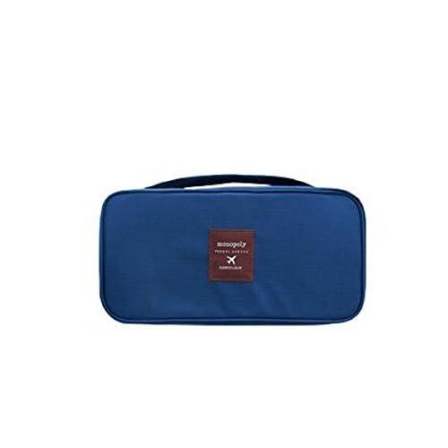旅行用 ランジェリー ケース インナー バック +トラベル圧縮袋付き (ネイビー)