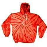 Tie-Dye Sweatshirt ~ Pullover Hoodie Sweatshirt with Pockets ~ Spider Red